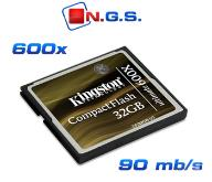 Kingston Karta CF CompactFlash ULTIMATE 600x 32GB