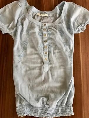 4badbc0ede474 Bluzeczka Reserved boho styl błękitna Super !!! - 6743967625 ...