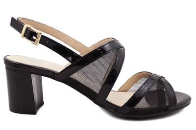 caprice sandały czarne