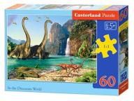 Puzzle 60 elementów. In the dinosaurs world