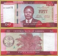 -- LIBERIA 50 DOLLARS 2016 AA Pnew UNC