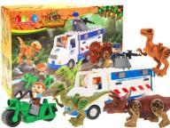 Klocki DINOZAURY Auto +3x Figurki Dino +3x Ludziki