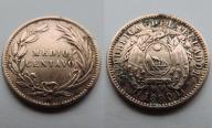 ECUADOR    MEDIO CENTAVO 1890