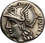 Rzym - Republika AR-denar M. Baebius 137 pne st.3