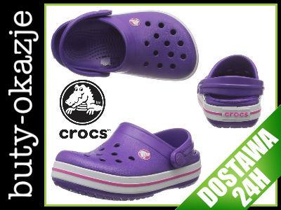 Crocs Crocband Neon Purple Fioletowe 27 29 C1011