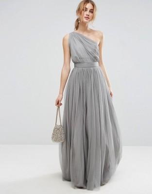 c1506894ef Asos Sukienka długa S 36 tiulowa bez pleców - 6900338620 - oficjalne ...