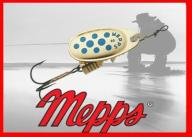 Błystka Mepps Comet nr 0 złoty-niebieski