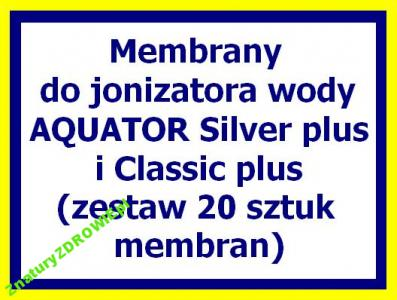 MEMBRANY do jonizatora wody AQUATOR plus (20 szt.)