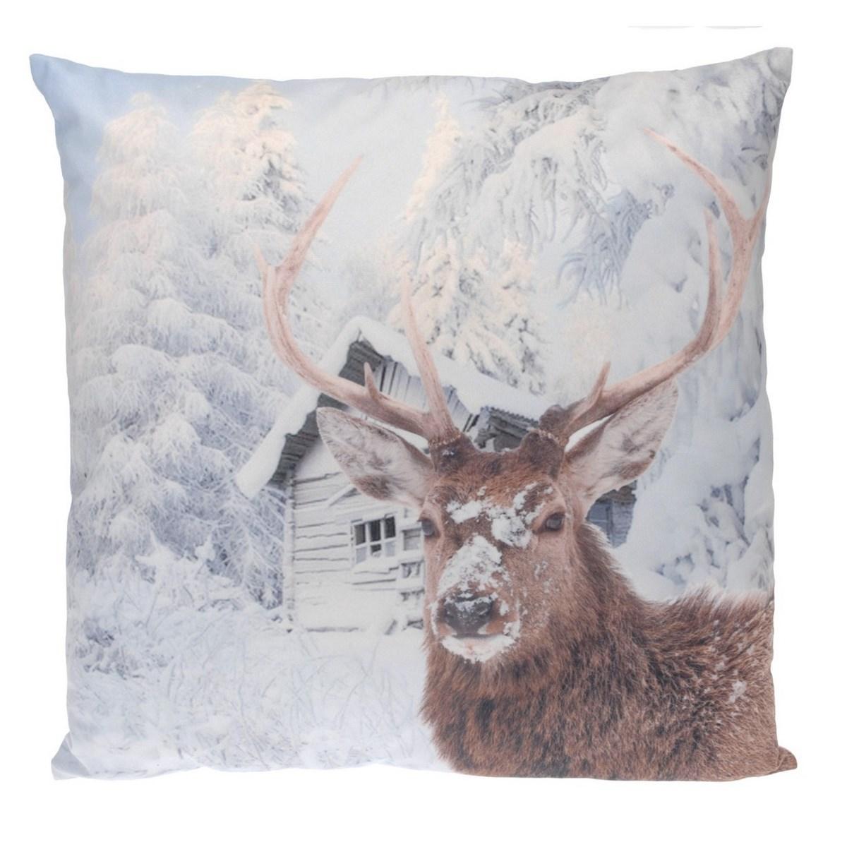 Poduszka dekoracyjna Snow Deer, 45 x 45 cm