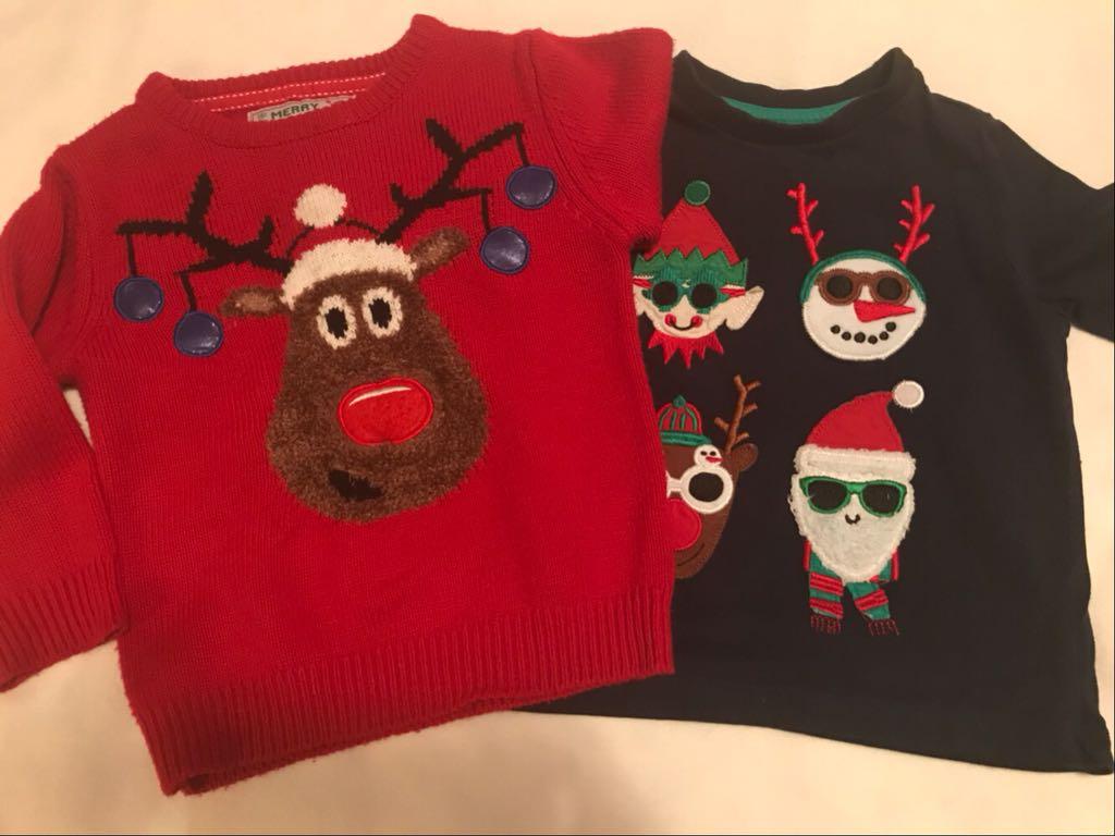 Sweterek świąteczny Rebel 92-98+bluzeczka