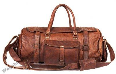 5b12d30b07cfc PH1 Skórzana torba podróżna VINTAGE TRAVMAX 20   - 6092282201 ...