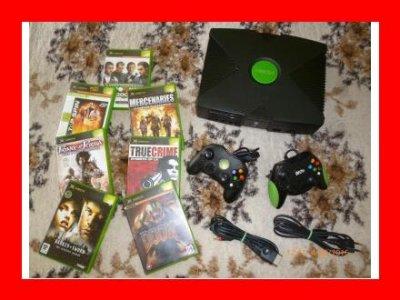 Konsola Xbox Classic 2xpad+7 gier-od kolekcjonera-
