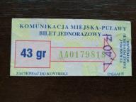 bilet u99 Puławy rew. czysty