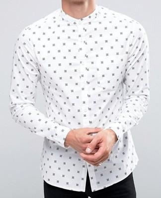 koszula męska exAsos stójka biała XL