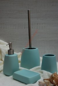 Pastello Zestaw łazienkowy Ceramiczny 4 Ele Turkus 6095122817