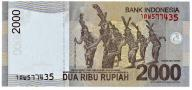 INDONEZJA  2000  Rupiah  2009  UNC  Obiegowy