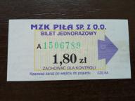 bilet u99 Piła 3 odcienie numeratora