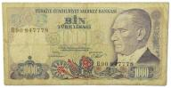 4.Turcja, 1 000 Lir 1970 (1986), P.196, St.3-