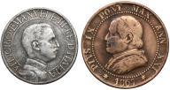 305. Włochy 1 lir i Watykan 1 soldo (2szt)