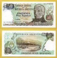 -- ARGENTYNA 50 PESOS ARG. nd/ 1983 31A  P314a UNC