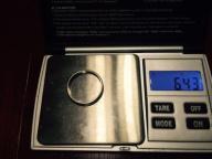 Obrączka 18 Karat białe złoto 750 6,43 gr !!