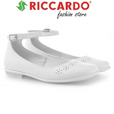 85db145bed Klasyczne białe buty BALERINY EMEL komunia 31 - 6070378731 ...