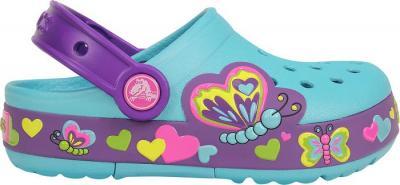Klapki Crocs Świecące Butterfly 15685 Neon
