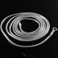 Długi, gruby łańcuszek srebrny żmijka okrągła 70cm