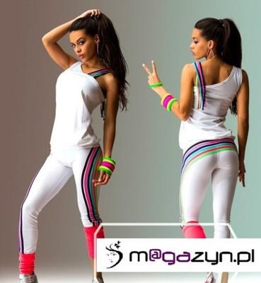 d851a21c639223 Dresy dres komplet fitness silownia S/M biały - 6444781968 ...