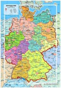 Maxim Puzzle 150 elementów Mapa Niemiec Domino-edu