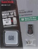 SanDisk MS Micro (M2) 2GB Mobile Ultra + czytnik
