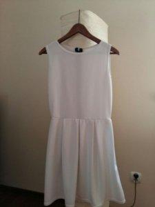 8f4173caf1 Sukienka bombka rozkloszowana biała rozmiar S M - 6528264675 ...