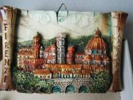 Figurka Florencja widokówka pamiątka ramka glina