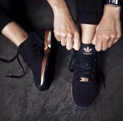 adidas zx flux damskie czarno zlote