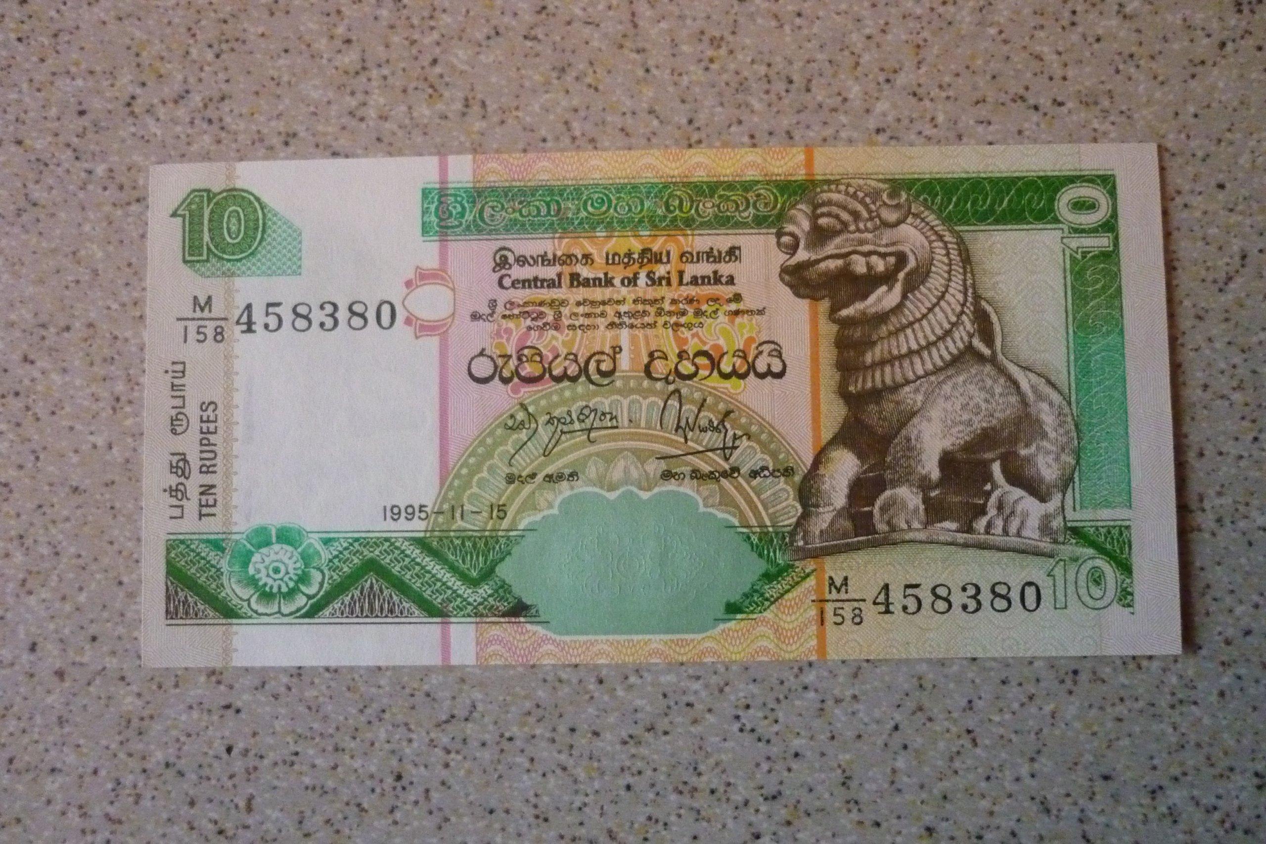 Sri Lanka - 10 rupi.
