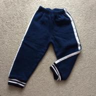 grube ciepłe granatowe spodnie dresowe 86