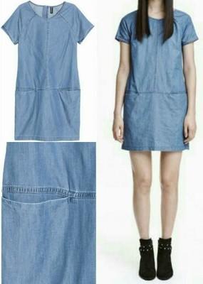 b3a17fcf7c Sukienka jeansowa H M rozm.38 -70%%% kieszenie - 6642729834 ...