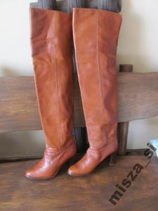 2bb11d11fb297 Kozaki damskie skóra- włoskie-modne- super długie! - 5756956520 ...