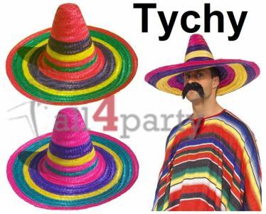 Sombrero Meksykańskie Meksykanin KOLOROWE Słomkowe