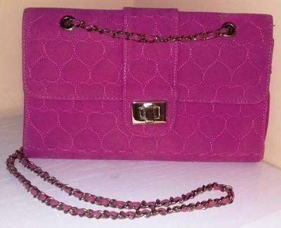 a3e75b54124f5 Różowa kopertówka NEW LOOK wytłaczane serca pink - 6661864517 ...
