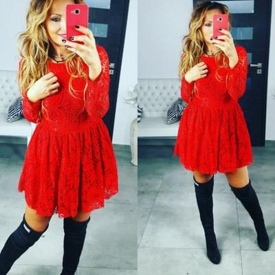 17de124b79 Czerwona sukienka Christmas M święta - 6627123772 - oficjalne ...