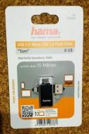 PENDRIVE HAMA 8GB - 2in1 USB micro+2.0 NOWY!!!