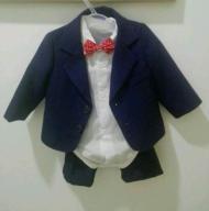 Elegancki garniturek dla chłopca na chrzest 68-74