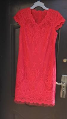 0f66188ae6 Czerwona koronkowa sukienka rozmiar 42 - 6923989297 - oficjalne ...