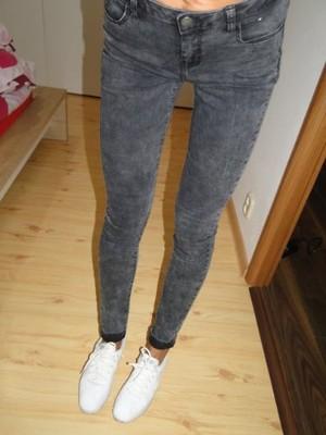 8b7f1969c3785c Spodnie Rurki Damskie Jeansy Niebieskie 9128 76 cm. DENIM CO rurki jeansy  skinny 12/40 marmurki MEGA!