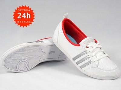 buty adidas neo piona białe