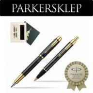 Zestaw Parker pióro + długopis IM Czarny GT 103M