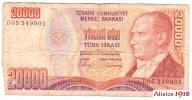 316. Turcja 200000 lira 1970 P-201a St 4