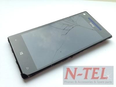 ORYGINALNY WYŚWIETLACZ RAMKA HTC 8X WINDOWS PHONE