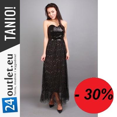 30% Suknia wieczorowa z cekinami Sukienka balowa